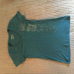 Burton Antidote V-Neck T-Shirt XS Blue